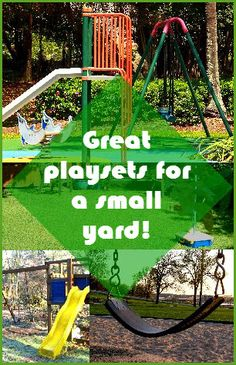 http://www.fivetoplist.com/playsets-for-small-yards/ #Playsets for Small Yards - most subdivisions in our neck of the woods have very small yards so we've become quite skilled at making efficient use of backyard space.