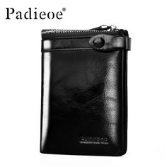 Padieoe Brand 2017 New Men Wallet Genuine Leather Cowhide Purse Credit Card Wallet Large Capacity Men's Wallet Free Shipping