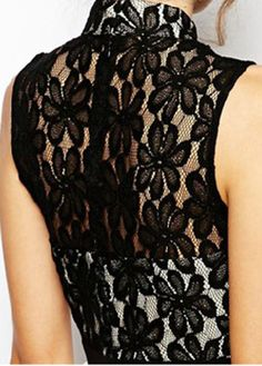 Lace Color Block A Line Dress