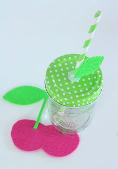 DIY Cherry Fruit Coaster Craft | Kim Byers, TheCelebrationShoppe.com