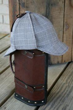 Sherlock Holmes Plaid Deerstalker Hat by GracefulDiligence on Etsy Detective Sherlock Holmes, Sherlock Bbc, Deerstalker Hat, Hat Stores, Wearing A Hat, Hat Making, Eminem, Geek Stuff, Plaid