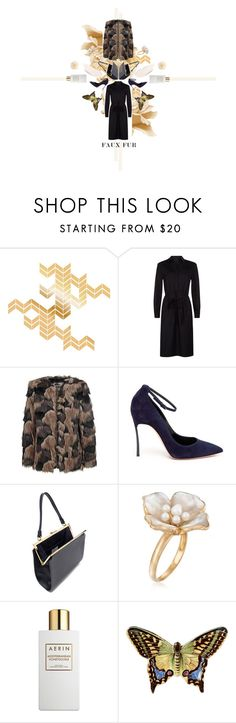 """faux FUR"" by paperpark ❤ liked on Polyvore featuring Jaeger, Pepe Jeans London, Casadei, Mansur Gavriel, Ross-Simons, AERIN, Juliska and Bling Jewelry"