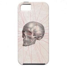 Abstract Gray Vintage Skull Modern Pink Stripes iPhone 5 Cases $44.95
