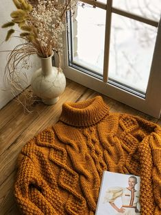 Excited to share the latest addition to my shop: Hand knit oversize woman sweater mustard color chunky wool sweater Cozy Aesthetic, Autumn Aesthetic, Aesthetic Clothes, Hand Knitted Sweaters, Cozy Sweaters, Sweaters For Women, Yellow Aesthetic Pastel, Knit Sweater Outfit, Yellow Clothes