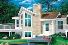 Contemporary Style House Plan - 1 Beds 1 Baths 772 Sq/Ft Plan #25-1089 Front Elevation - Houseplans.com