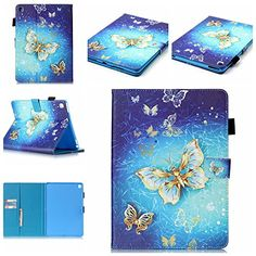 iPad Pro 9.7 Case, Dteck Heavy Duty PU Leather Smart Stand Case [Auto Sleep/Wake] with Pencil Holder Full-body Protective Case Cover for iPad Pro 9.7 inch (2016 Model),Golden Butterfly >>> Check this awesome product by going to the link at the image.