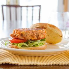 Salmon Burgers. These were not only really easy to make, they were quick to cook up!