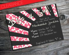Leopard Animal Print It's a Girl Baby Shower Invitation by PURPLEgalore, $8.40
