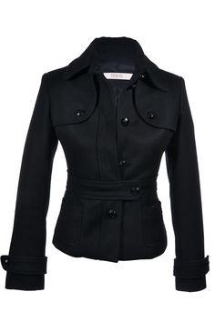 R.E.D #Valentino | Feminin taillierte #Jacke aus einem Wollmix, Gr. S | R.E.D. Valentino | mymint-shop.com | Ihr Online #Shop für #Secondhand / #Vintage #Designerkleidung & Accessoires bis zu -90% vom Neupreis das ganze Jahr #mymint