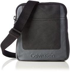 Calvin Klein Jeans Herren Cross Mini Flat Crossover Umhängetaschen, Schwarz (Black 001 001), 16x19x3 cm - http://herrentaschenkaufen.de/calvin-klein-jeans/schwarz-black-001-001-calvin-klein-jeans-herren-cm-3