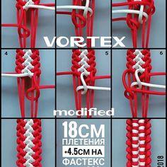 Regran_ed from - Vortex modified/Вихрь модификация. Paracord Bracelet Instructions, Paracord Tutorial, Bracelet Tutorial, Macrame Tutorial, Paracord Braids, Paracord Bracelets, Macrame Bracelets, Bracelets Design, Do It Yourself Jewelry