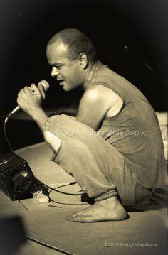 Luca Prodan, cantante de Sumo. Quinta Vergara, Viña del Mar, Chile. 21 de febrero de 1987.