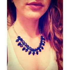 Boom Pow! A rich shade of blue in this fabulous 7 Charming Sisters necklace. This is the Cheerleader necklace and it is soooo hot right now!