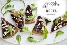 Beet Green Pesto Pizza With Roasted Beets