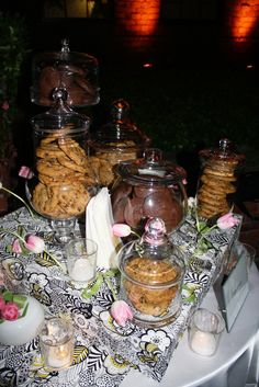 Cookie and Candy Table for the wedding favors