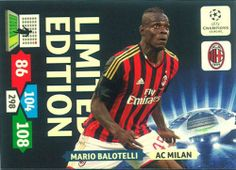 Champions League Adrenalyn XL 13 - 14 Mario Balotelli Limited Edition.