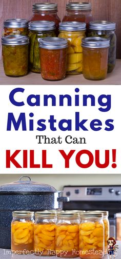 DIY Food Preservation Tips and Recipes : Canning Mistakes That Can KILL YOU! If you're a canner or want to be you need to know the mistakes you can make water bath and pressure canning that can make you very sick. Pressure Canning Recipes, Home Canning Recipes, Canning Tips, Cooking Recipes, Pressure Cooking, Easy Canning, Canning Process, Oven Canning, Cooking Fish