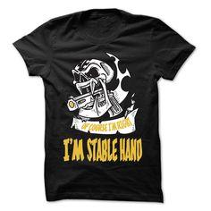 (Tshirt Produce) Of Course I Am Right I Am Stable Hand 99 Cool Job Shirt [Tshirt design] Hoodies, Funny Tee Shirts