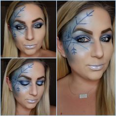 Atlantis palette from hush. Snowflake Christmas look. Makeup Looks 2018, Hush Hush, Atlantis, Halloween Face Makeup, Palette, Parties, Christmas, Fiestas, Xmas