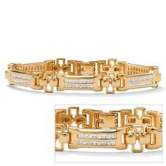 PalmBeach Jewelry 14k Gold-Plated Mens Channel-Set DiamonUltraTM Cubic Zirconia Bracelet Palm Beach Jewelry, http://www.amazon.com/dp/B003Y3VDPQ/ref=cm_sw_r_pi_dp_2oRvqb04GKFVW