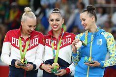 Olympic Games, Individual all-around: 1. Margarita Mamun (Russia) - 76.483. 2. Yana Kudryavtseva (Russia) - 75.608. 3. Ganna Rizatdinova (Ukraine) - 73.583