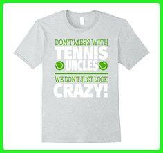 Mens Crazy Tennis Uncle T-Shirt - We Don't Just Look Crazy Medium Heather Grey - Sports shirts (*Amazon Partner-Link)