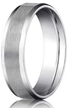 slim brushed aluminum inlay in a silver band