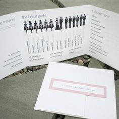 wedding programs with a twist by angelia