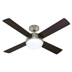 Hunter Arvada LED Brushed Nickel Indoor Ceiling Fan with Light Kit and Remote at Lowe's. Update your home decor with the streamlined style of this ceiling fan from the Arvada LED collection. Living Room Fans, Living Room Ceiling Fan, Living Room Lighting, Home Lighting, Bedroom Fan, Kids Bedroom, Master Bedroom, Ceiling Fan With Remote, Ceiling Fans