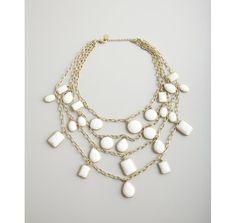 White multi layered necklace