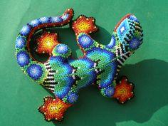 Huichol Clay Lizard - Latin - Mexican Folk Art Craft