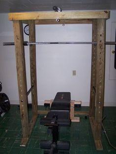 Trendy Home Gym Garage Diy Power Rack Homemade Gym Equipment, Diy Gym Equipment, Home Made Gym, Diy Home Gym, Home Gym Garage, Basement Gym, Diy Power Rack, Crossfit Home Gym, Gym Rack