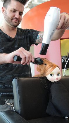 How NOT to style your dolls hair! Salon Pictures, Doll Hair, Salons, Dolls, Hair Styles, Baby Dolls, Hair Plait Styles, Lounges, Puppet