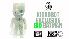 Kidrobot Exclusive GID Dissected Batman from Mighty Jaxx x Jason Freeny!