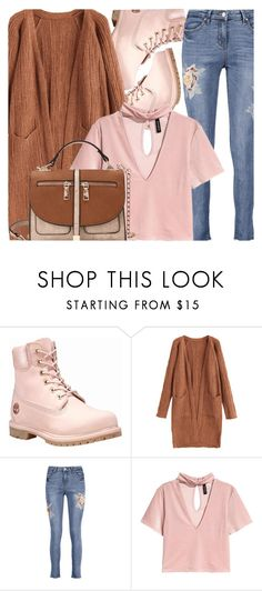 """Long Cardigan"" by fattie-zara ❤ liked on Polyvore featuring Timberland"