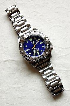 Orient Star WZ0361FD 200-meter air diver's watch «Blue Revolver»