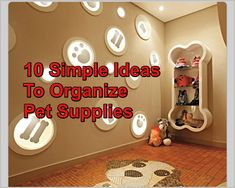 Ten Simple Ideas For Organizing Pet Supplies  ... see more at PetsLady.com ... The FUN site for Animal Lovers