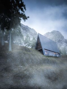 A Stunning Triangular House That Sits At The Edge Of A Cliff - DesignTAXI.com