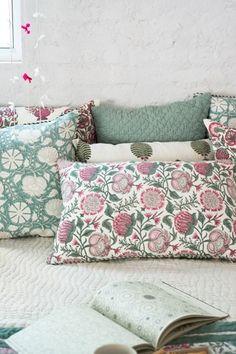 Coromandel Tree Cotton Pique Cushion