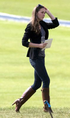 Kate Middleton Watches Her Royal Boyfriend At A Polo Match, May 2009 Bally Leather Boots