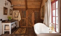 The Ranch at Rock Creek - Luxury Dude Ranch and Glamping Location in Montana - authentic western ranch vacation | The Loft bathroom
