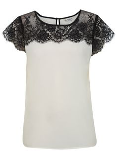 The perfect top to introduce lace detailing in a simple, wearable way. (It would also be easy enough to get a plain white T-shirt and add lace to it, but this would make a good guideline.)
