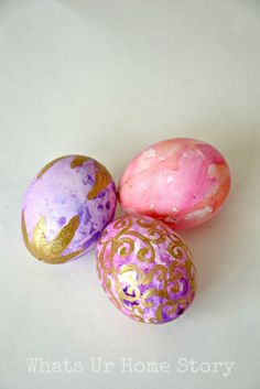 painted easter eggs, Watercolor Easter Eggs