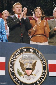 Senator Dan Quayle and his wife, Marilyn, celebrate the presidential nomination of George Bush Dan Quayle, Presidents, United States, The Unit, Celebrities, Celebs, Celebrity, Famous People