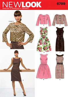 Misses Dress New Look Sewing Pattern No. 6799