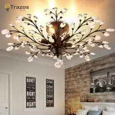 2017 New Vintage American Chandelier Metal Black Aisle Lights Balcony crystal pendants for chandeliers For Home Modern Vintage