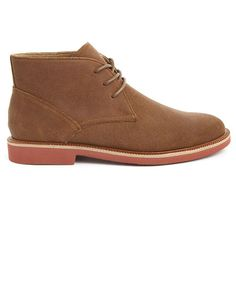 Camel Suede Chukkas with Brick Sole POLO Ralph Lauren