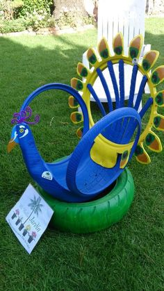 Make excellent garden decors from old car tires, best 28 12 Would you like to evaluate your old car Tire Garden, Lawn And Garden, Garden Crafts, Garden Projects, Reuse Old Tires, Recycled Tires, Tire Craft, Tire Furniture, Recycled Furniture