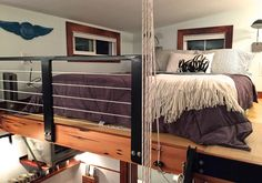 This is just one of two lofts that this tiny home boasts.