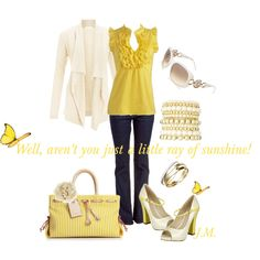 A Ray of Sunshine, created by jenniemitchell on Polyvore
